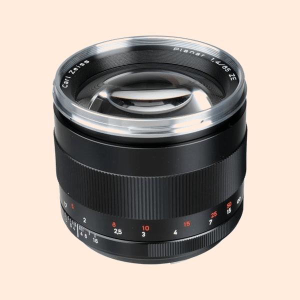 Carl Zeiss ZE 85mm Lens on Rent
