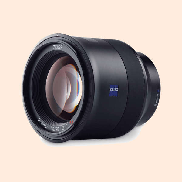 Carl Zeiss Batis 85mm (f-1.8) E-Mount Lens on Rent