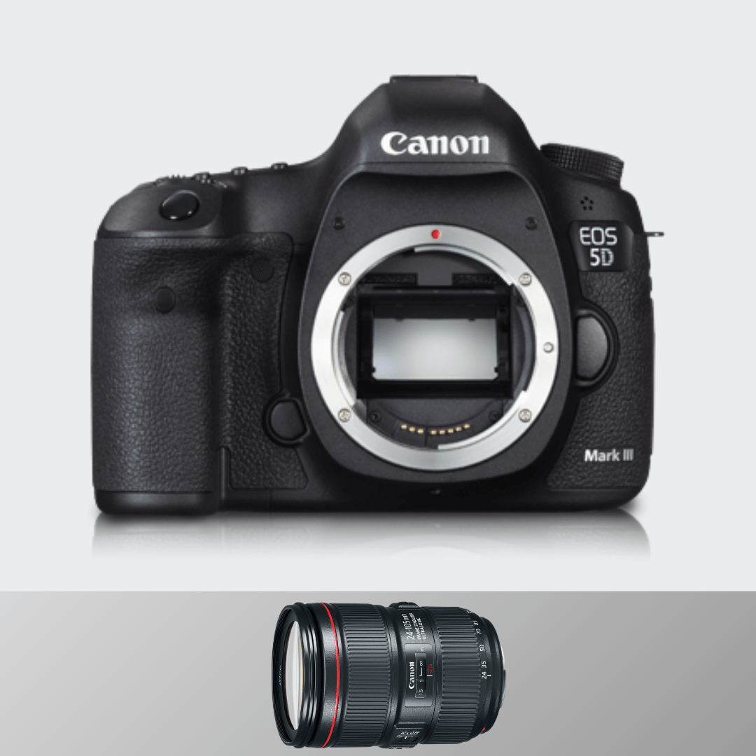 Canon 5d Mark III + 24-105(F 4.0) + 50 MM (F1.8)