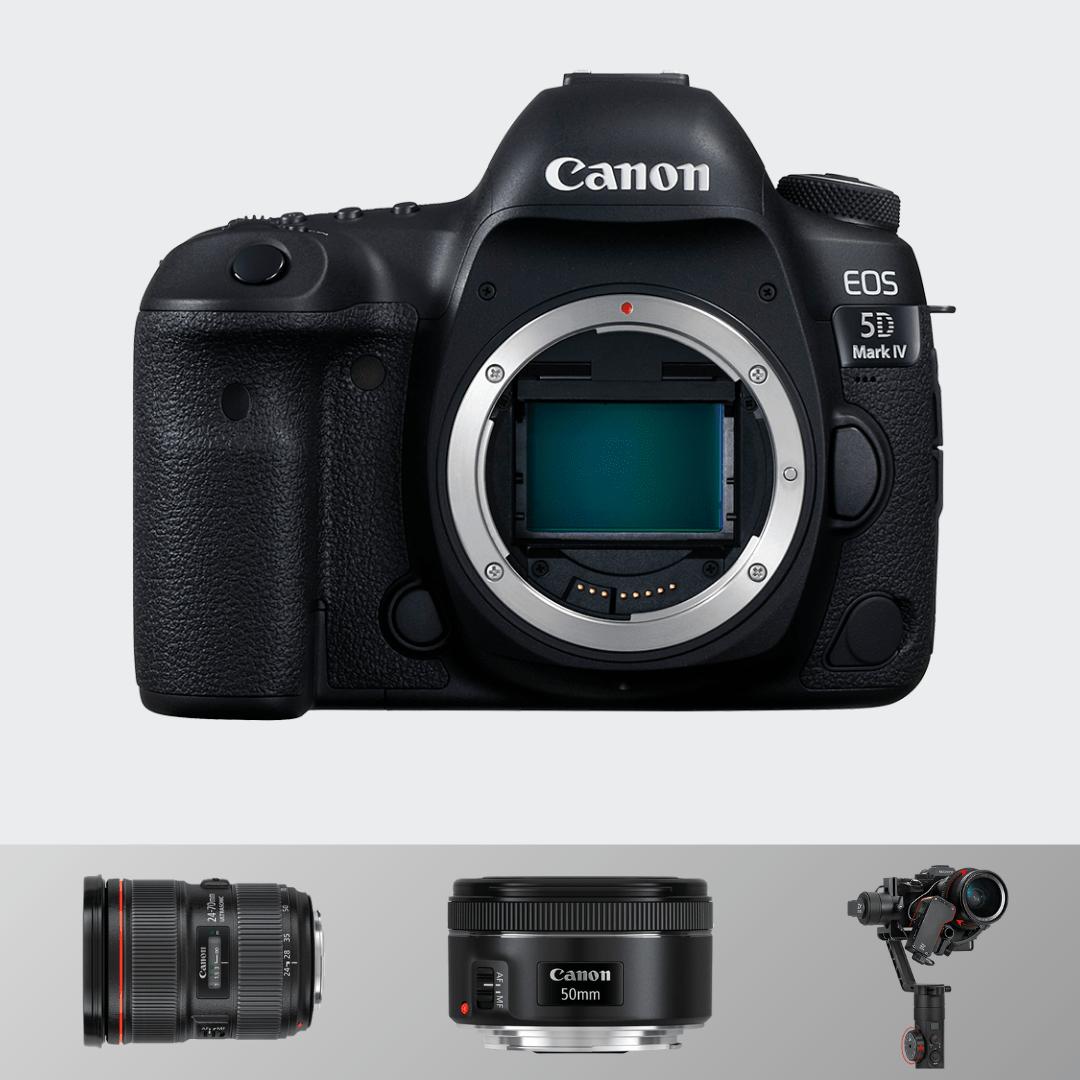 Canon 5d Mark IV + 24-70(F 2.8) + 50 MM (F1.8) + Zhiyun Crane 2