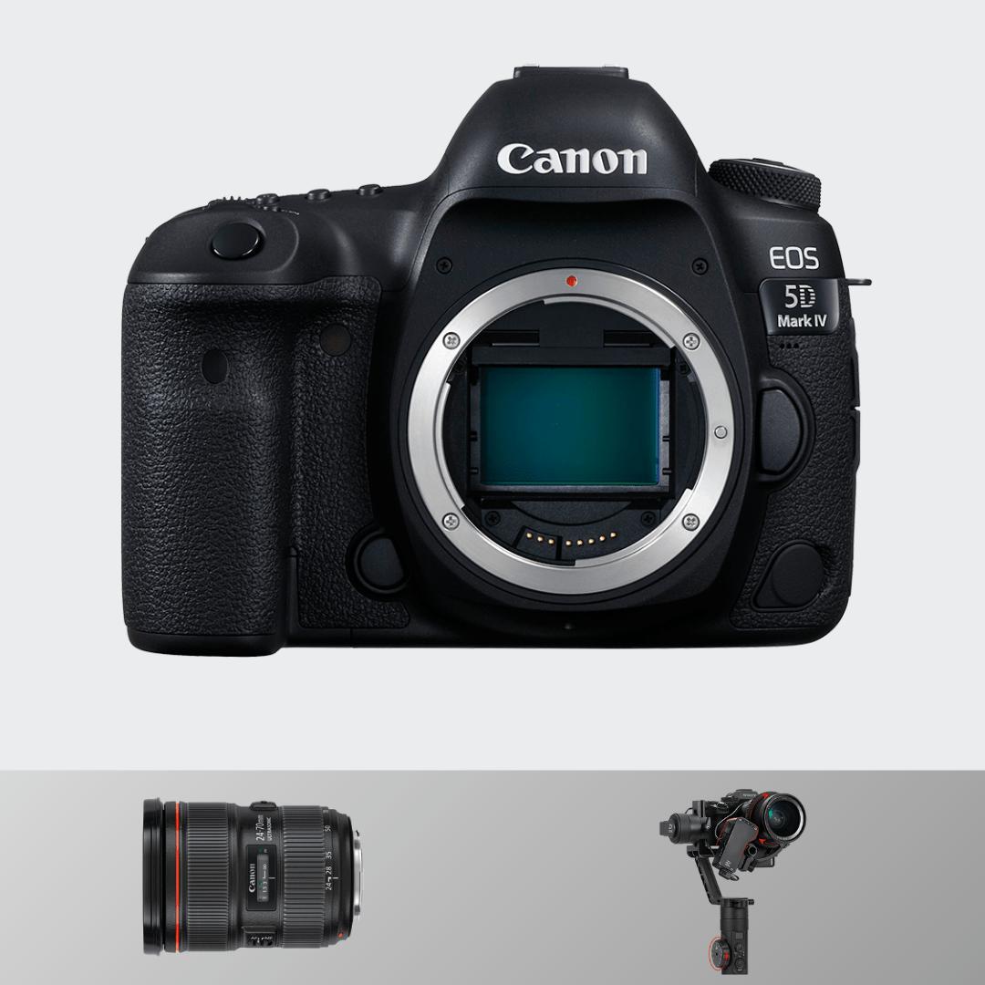 Canon 5d Mark IV + 24-70(F 2.8) +  Zhiyun Crane 2