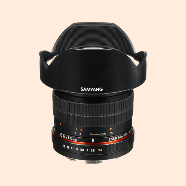 Samyang 14 mm Canon Mount Lens on Rent