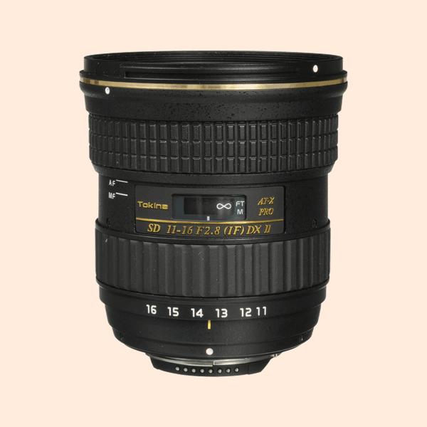 Tokina 2.8 Lens 11-16 on Rent