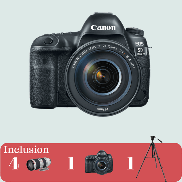 Canon 5D Mark-IV Essential Kit on rent