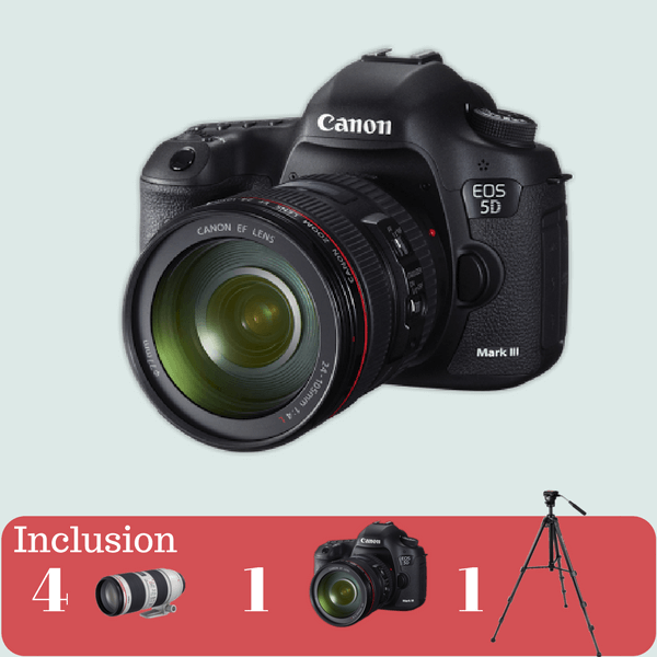 Canon 5D Mark lll Essential kit on rent