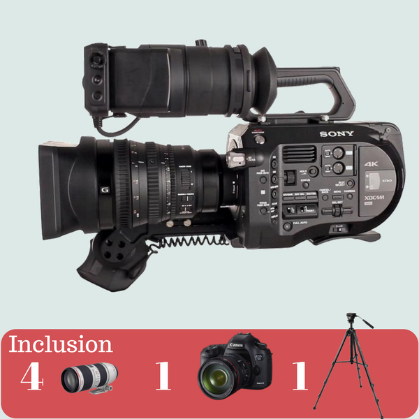 Sony FS7 4K with Canon Lens Kit on rent
