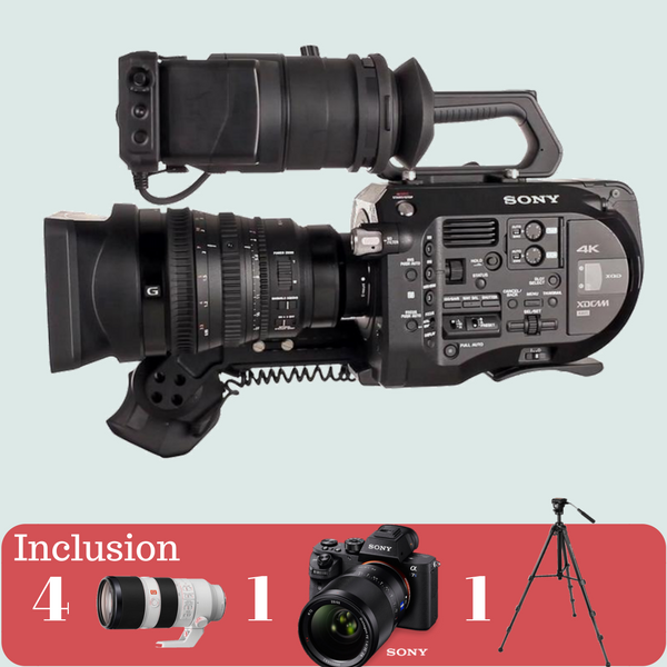 Sony FS7 4K with Sony Lens Kit on rent